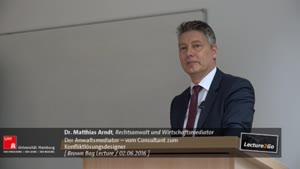"""Miniaturansicht - Brown Bag Lectures """"Berufsbilder"""" - Der Anwalt als Mediator"""