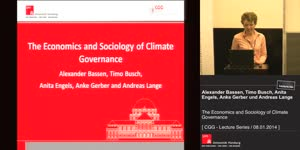 Vorschaubild - The Economics and Sociology of Climate Governance
