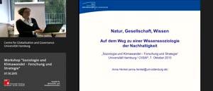 """Miniaturansicht - Workshop """"Soziologie und Klimawandel - Forschung und Strategie"""""""