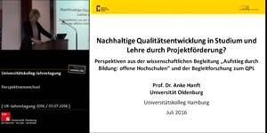 Thumbnail - Nachhaltige Qualitätsentwicklung in Studium und Lehre durch Projektförderungen?