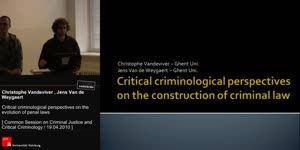 Miniaturansicht - Critical criminological perspectives on the evolution of penal laws