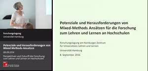 Thumbnail - Potenziale und Herausforderungen von Mixed  Methods - Ansatzen für die Forschung zum  Lehren und Lernen an Hochschulen