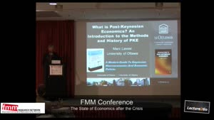 Miniaturansicht - FMM Conference 2012: What is  post-Keynesian Economics? An introduction to the method and history of PKE