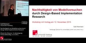 Miniaturansicht - Nachhaltigkeit von Modellversuchen durch Design-Based Implementation Research