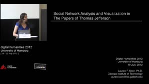 Miniaturansicht - SP 04 - Social Network Analysis and Visualisation in the Papers of Thomas Jefferson