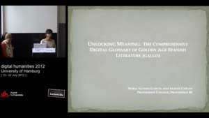 Miniaturansicht - Unlocking Meaning: The Comprehensive Digital Glossary of Golden Age Spanish Literature (GALGO)