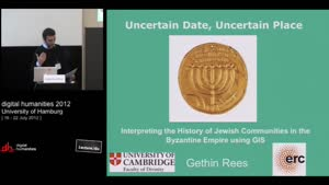 Miniaturansicht - SP 05 - Uncertain Date, Uncertain Place: Interpreting the History of Jewish Communities in the Byzantine Empire using GIS