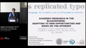 Miniaturansicht - Academic Research in the Blogosphere: Adapting to New Opportunities and Risks on the Internet