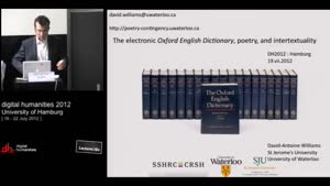 Miniaturansicht - The electronic Oxford English Dictionary, poetry, and intertextuality