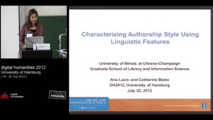 Thumbnail - Characterizing Authorship Style Using Linguistic Features