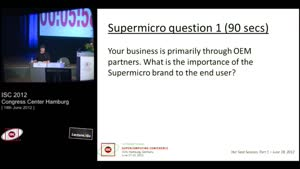 Miniaturansicht - Hot Seat Session, Part 1 - 1: Supermicro - Tau Leng Questions