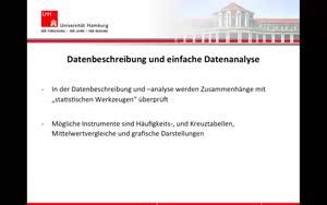 Vorschaubild - 5. Datenbeschreibung und einfache Analysen