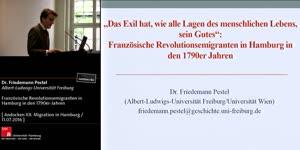 """Thumbnail - """"Das Exil hat, wie alle Lagen des menschlichen Lebens, sein Gutes"""": Französische Revolutionsemigranten in Hamburg in den 1790er-Jahren"""