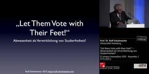 """Miniaturansicht - """"Let them Vote with their Feet!"""" – Abwesenheit als Verwirklichung von Studierfreiheit?"""