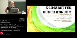 Miniaturansicht - Klimaretten durch Konsum: Diskurs über Verantwortung