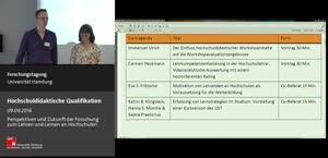 Thumbnail - Hochschuldidaktische Qualifi kation: Bewertung,  Lehrkompetenzentwicklung , Zielorientierungen und studentische Lernstrategien