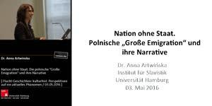 """Miniaturansicht - Nation ohne Staat. Die polnische """"Große Emigration"""" und ihre Narrative"""