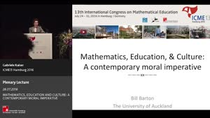 Miniaturansicht - Plenary Lecture: MATHEMATICS, EDUCATION AND CULTURE: A CONTEMPORARY MORAL IMPERATIVE