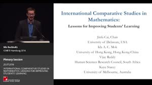 Miniaturansicht - Plenary Panel: INTERNATIONAL COMPARATIVE STUDIES IN MATHEMATICS: LESSONS FOR IMPROVING STUDENTS' LEARNING