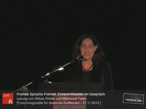 Thumbnail - Fremde Sprache Freiheit. Exilschriftsteller Abbas Khider und Mahmood Falaki im Gespräch