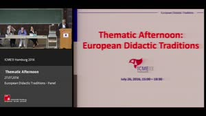 Miniaturansicht - Thematic Afternoon: European Didactic Traditions - Panel
