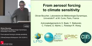 Miniaturansicht - From aerosol forcing to climate sensitivity