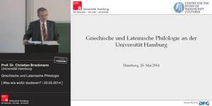 Miniaturansicht - Griechische und Lateinische Philologie an der Universität Hamburg