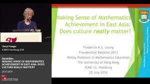 Miniaturansicht - Awardee: MAKING SENSE OF MATHEMATICS ACHIEVEMENT IN EAST ASIA: DOES CULTURE REALLY MATTER?