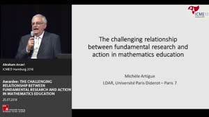 Miniaturansicht - Awardee: THE CHALLENGING RELATIONSHIP BETWEEN FUNDAMENTAL RESEARCH AND ACTION IN MATHEMATICS EDUCATION