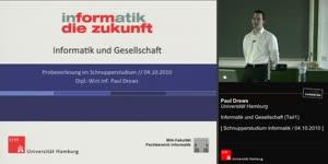 Miniaturansicht - Informatik und Gesellschaft (Teil I)