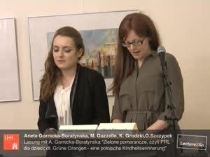 """Miniaturansicht - Lesung des Buches """"Zielone pomarańcze, czyli PRL dla dzieci; dt. Grüne Orangen - eine polnische Kindheitserinnerung"""" (3)"""