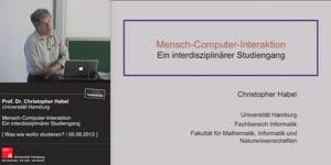 Miniaturansicht - Mensch-Computer-Interaktion – Ein interdisziplinärer Studiengang