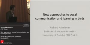Vorschaubild - New approaches to vocal communication and learning in birds