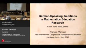 Miniaturansicht - Thematic Afternoon: German-speaking Traditions in Mathematics Education Research Panel