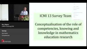 Miniaturansicht - Survey: Mogens Niss: CONCEPTUALISATION OF THE ROLE OF COMPETENCIES