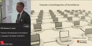 Miniaturansicht - Towards a Sociolinguistics of Surveillance