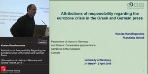 Miniaturansicht - Attributions of responsibility regarding the Eurozone crisis in the Greek and German press
