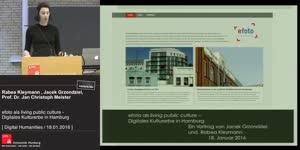Miniaturansicht - efoto als living public culture - Digitales Kulturerbe in Hamburg