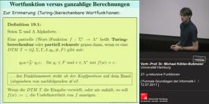 Miniaturansicht - 27 - µ-rekursive Funktionen