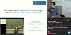 Miniaturansicht - Der Mehrwert von Vorlesungsaufzeichnungen – Ergebnisse eines dreiteiligen Mixed- Methods-Evaluationskonzeptes