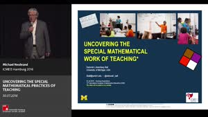 Miniaturansicht - Plenary Lecture: UNCOVERING THE SPECIAL MATHEMATICAL PRACTICES OF TEACHING
