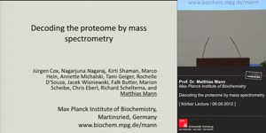 Miniaturansicht - Decoding the proteome by mass spectrometry  - Körber Lecture 2012