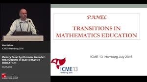 Miniaturansicht - Plenary Panel: TRANSITIONS IN MATHEMATICS EDUCATION