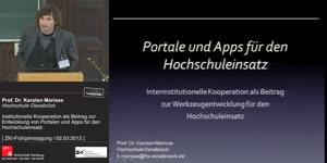 Vorschaubild - Interinstitutionelle Kooperation als Beitrag zur Entwicklung von Portalen und Apps für den Hochschuleinsatz