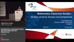 Miniaturansicht - Plenary Lecture: MATHEMATICS CLASSROOM STUDIES - MULTIPLE WINDOWS AND PERSPECTIVES
