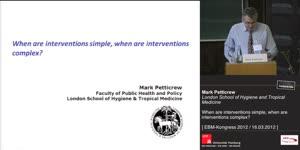 Miniaturansicht - EBM-Kongress - When are interventions simple, when are interventions complex?