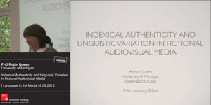 Miniaturansicht - Indexical Authenticity and Linguistic Variation in Fictional Audiovisual Media