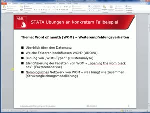 Vorschaubild - 1. Einführung in STATA für die operative Marktforschung