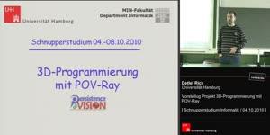 """Miniaturansicht - Vorstellung Projekt """"3D-Grafik und Animation mit POV-Ray"""""""