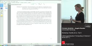 Thumbnail - Workshop Tamiflu und Co. -  2. Teil